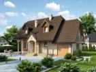 Проект удобного дома с мансардой и гаражом